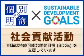 明海は持続可能な開発目標(SDGs)を支援しています